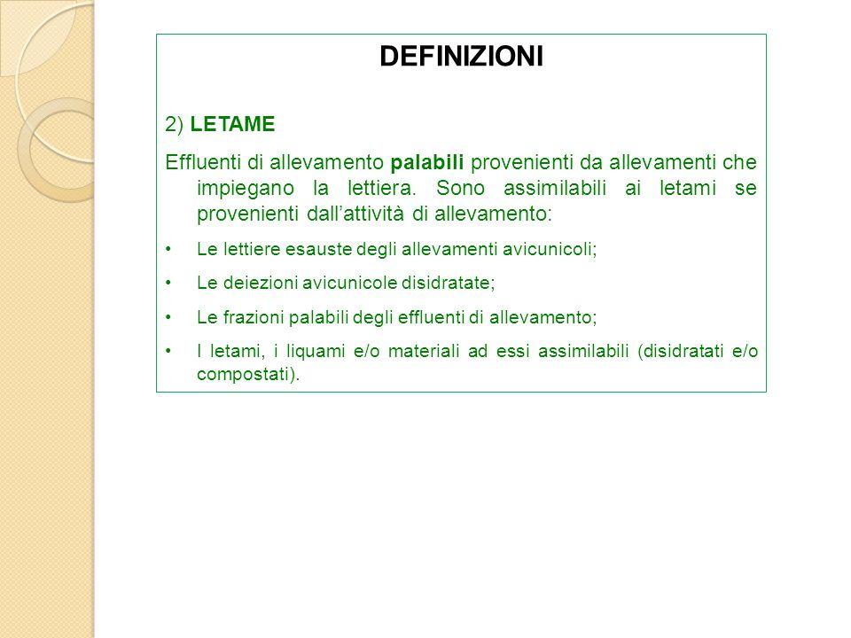 DEFINIZIONI 2) LETAME.
