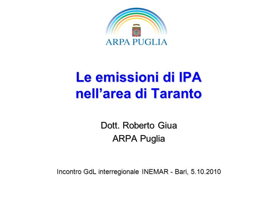 Le emissioni di IPA nell'area di Taranto
