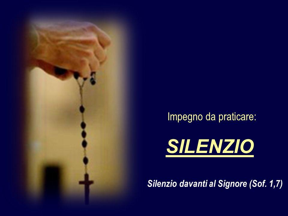 Silenzio davanti al Signore (Sof. 1,7)