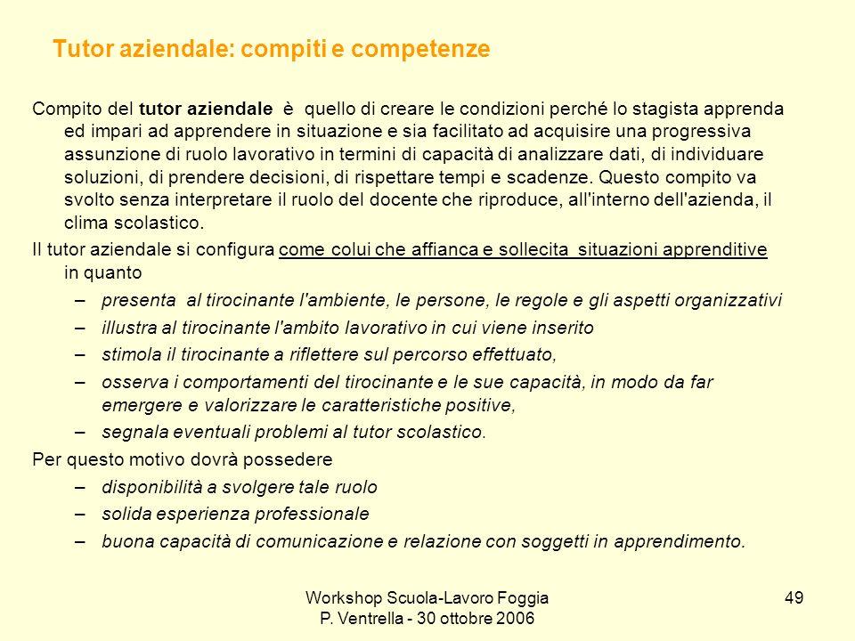 Tutor aziendale: compiti e competenze