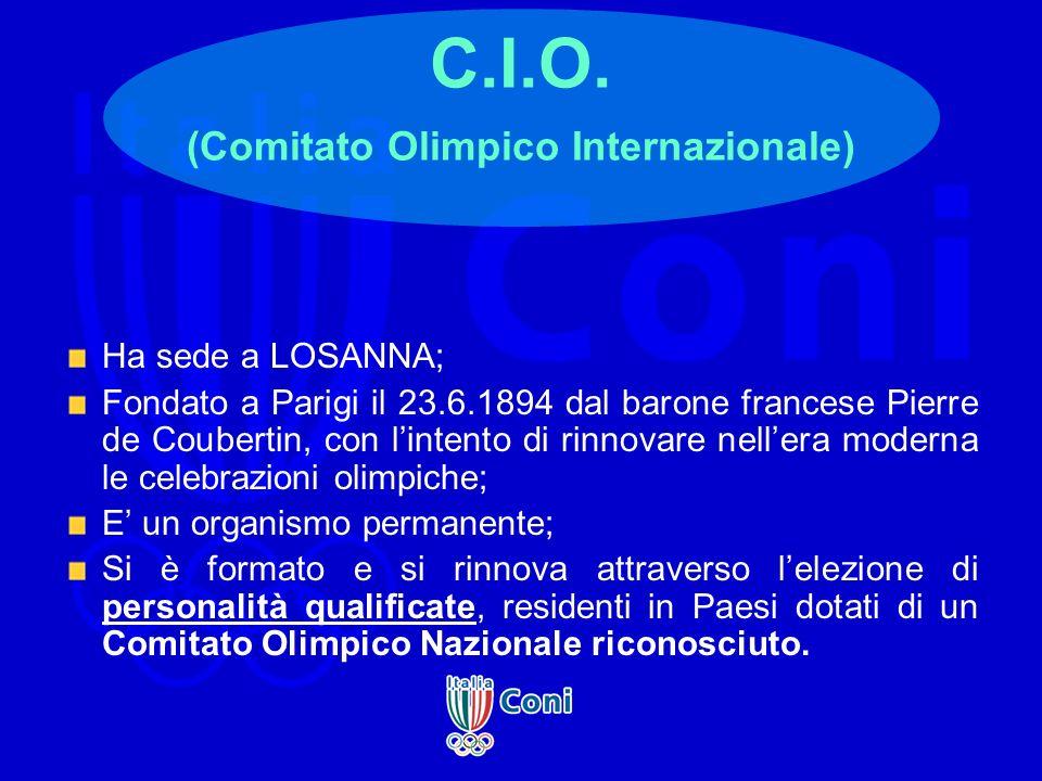C.I.O. (Comitato Olimpico Internazionale)
