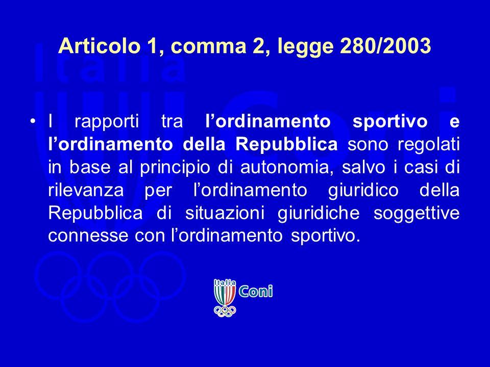 Articolo 1, comma 2, legge 280/2003