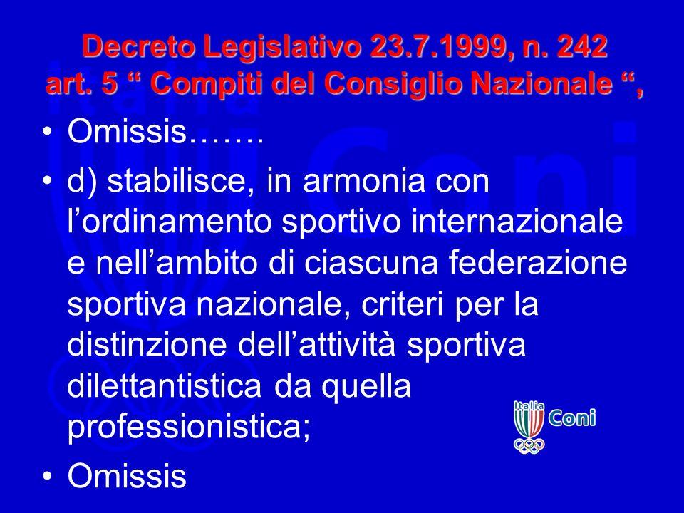 Decreto Legislativo 23. 7. 1999, n. 242 art
