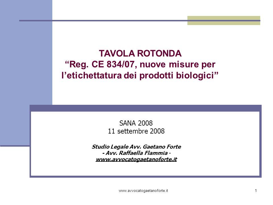 Reg. CE 834/07, nuove misure per