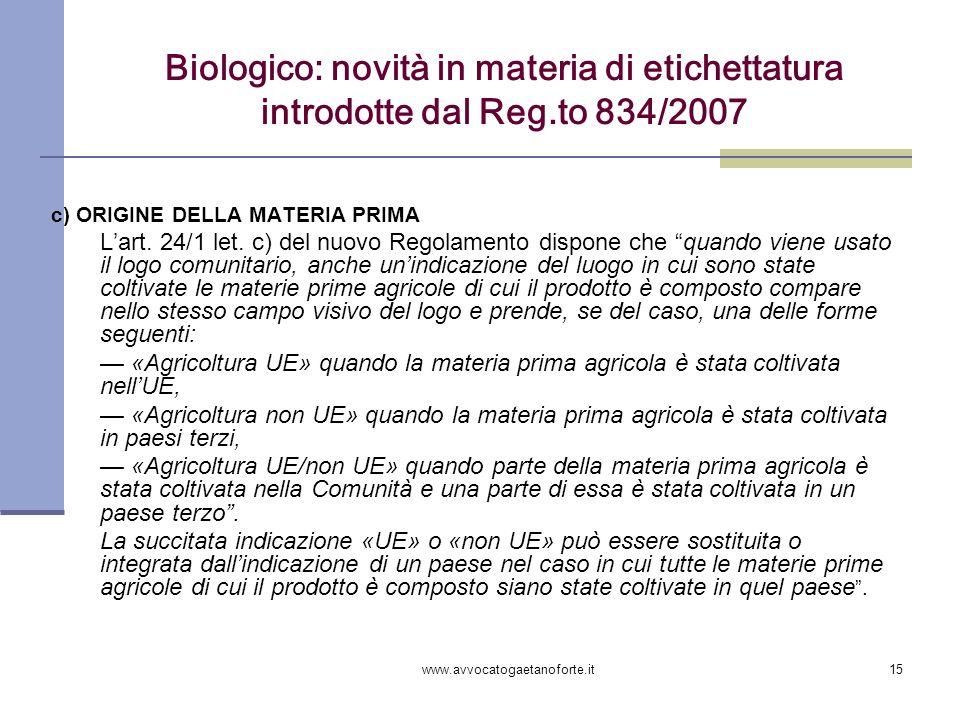 Biologico: novità in materia di etichettatura introdotte dal Reg