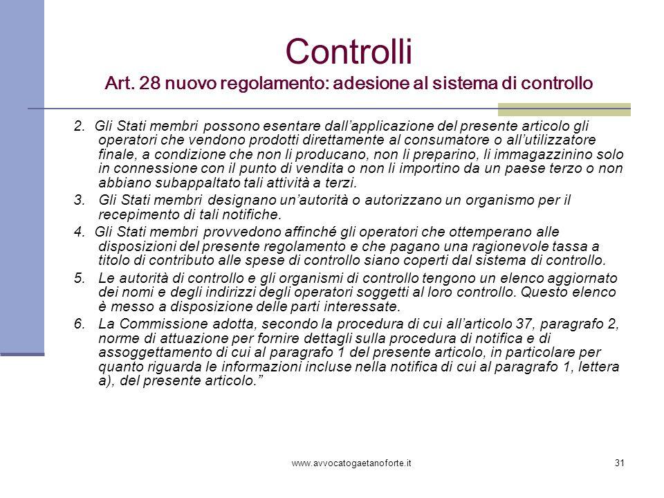 Controlli Art. 28 nuovo regolamento: adesione al sistema di controllo