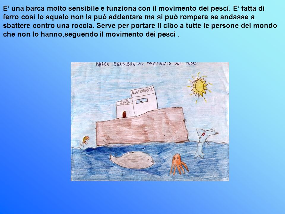 E' una barca molto sensibile e funziona con il movimento dei pesci