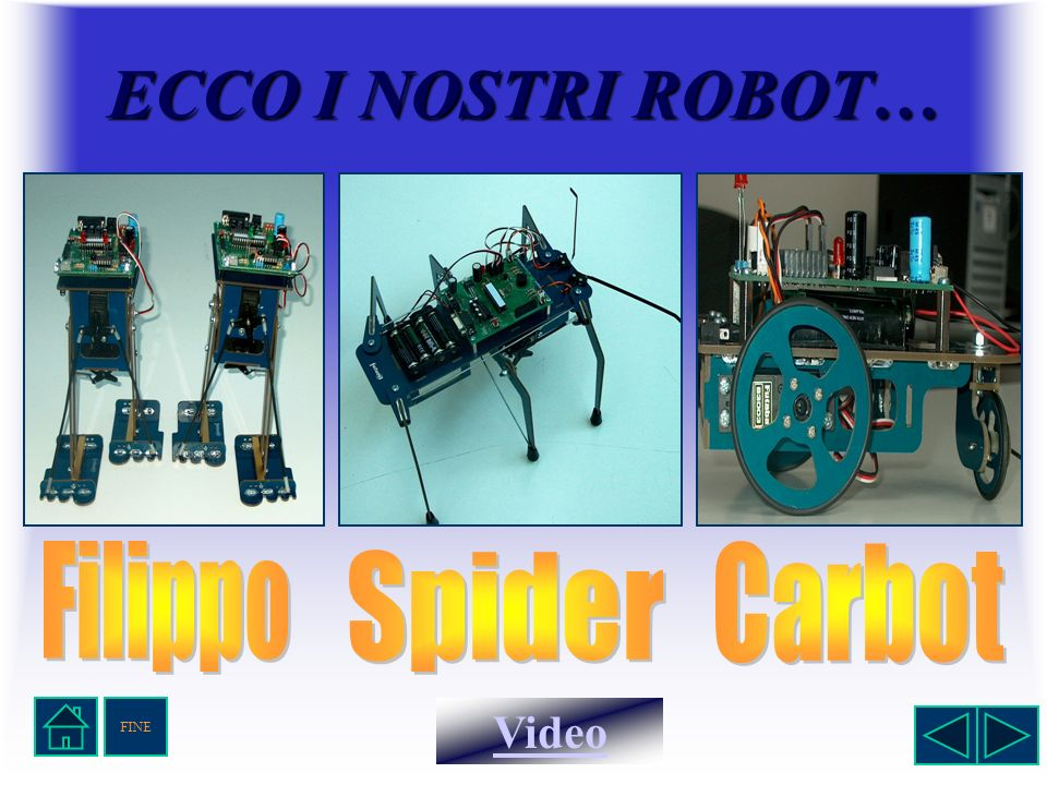 ECCO I NOSTRI ROBOT… Filippo Carbot Spider FINE Video