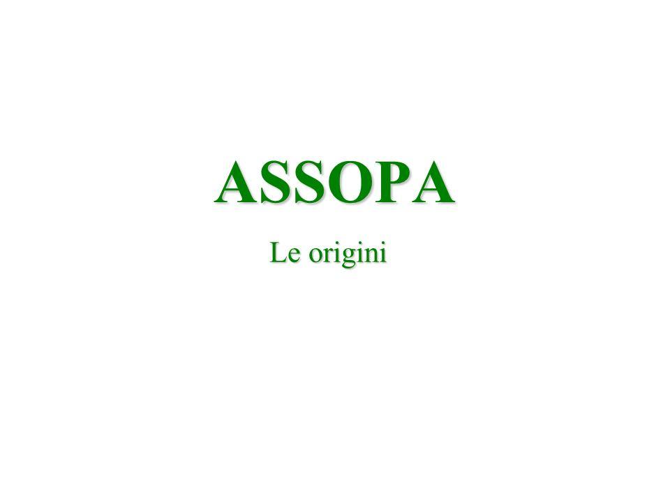 ASSOPA Le origini
