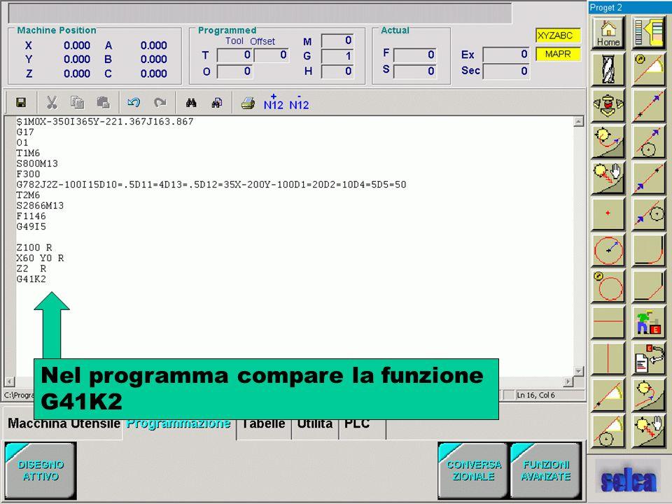 Nel programma compare la funzione