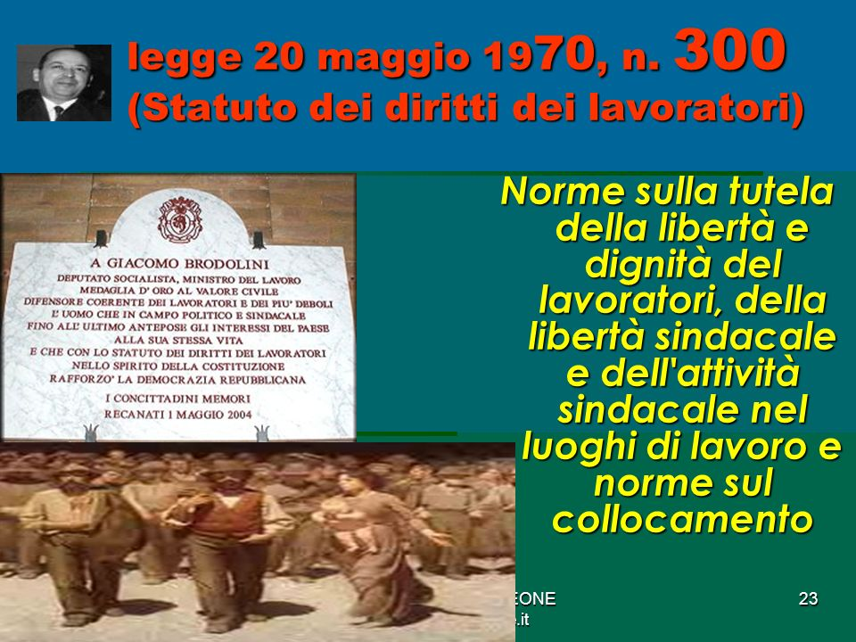 legge 20 maggio 1970, n. 300 (Statuto dei diritti dei lavoratori)