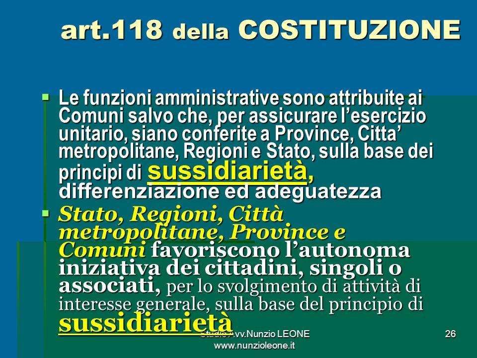 art.118 della COSTITUZIONE