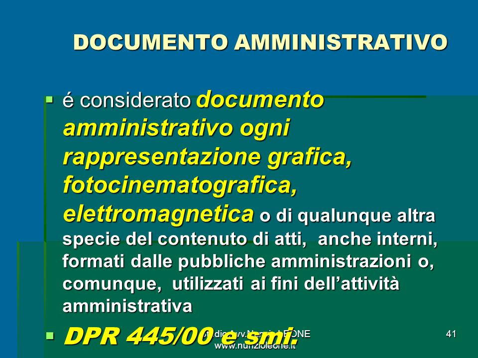 DOCUMENTO AMMINISTRATIVO