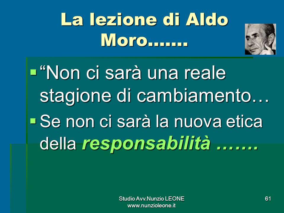 La lezione di Aldo Moro…….