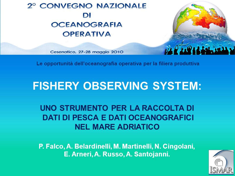 FISHERY OBSERVING SYSTEM: