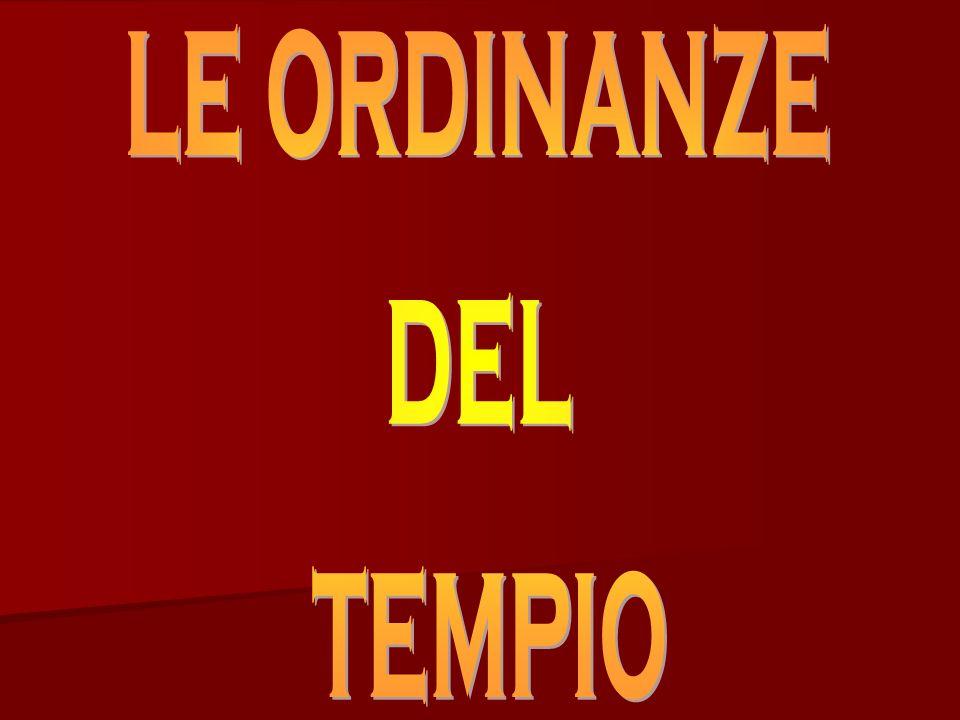 le ordinanze del tempio