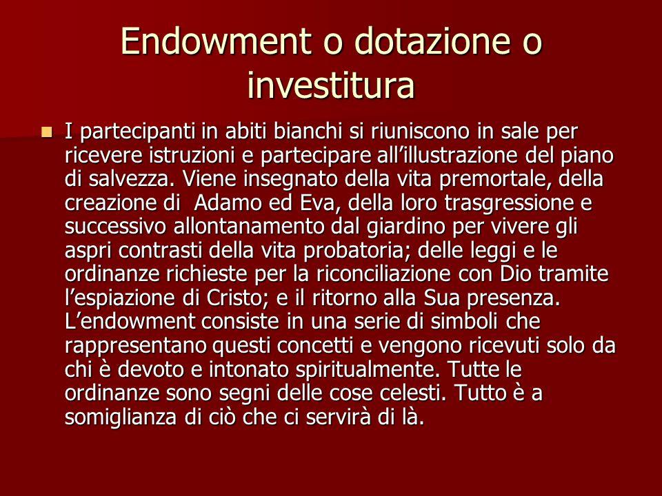 Endowment o dotazione o investitura