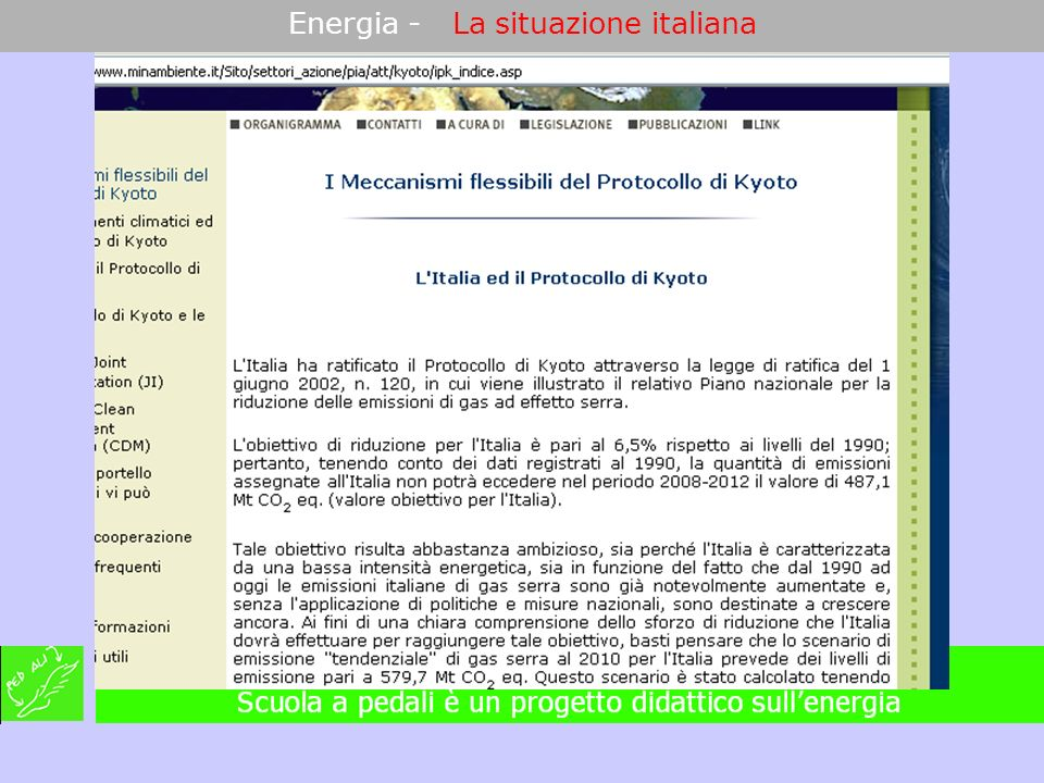Energia - La situazione italiana