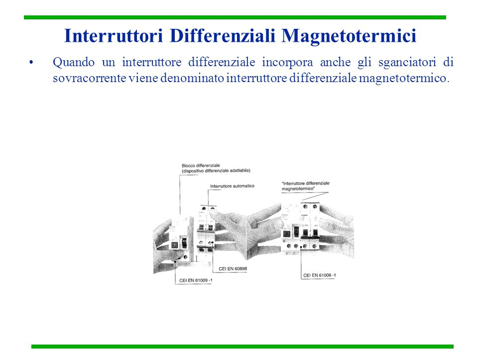 Interruttori Differenziali Magnetotermici