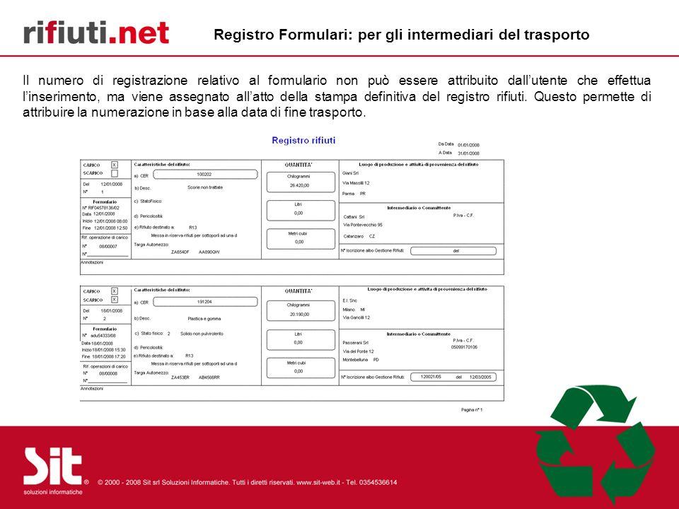 Registro Formulari: per gli intermediari del trasporto