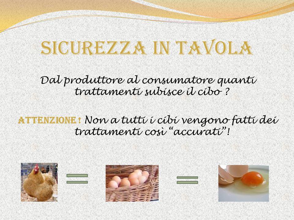 Dal produttore al consumatore quanti trattamenti subisce il cibo