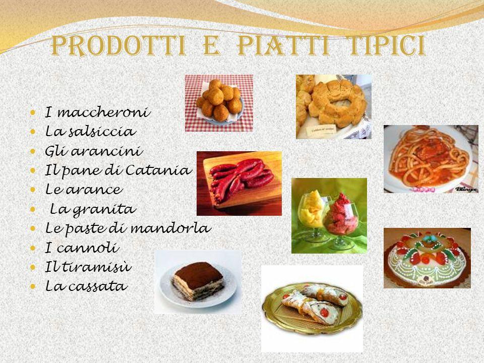 Prodotti e piatti tipici
