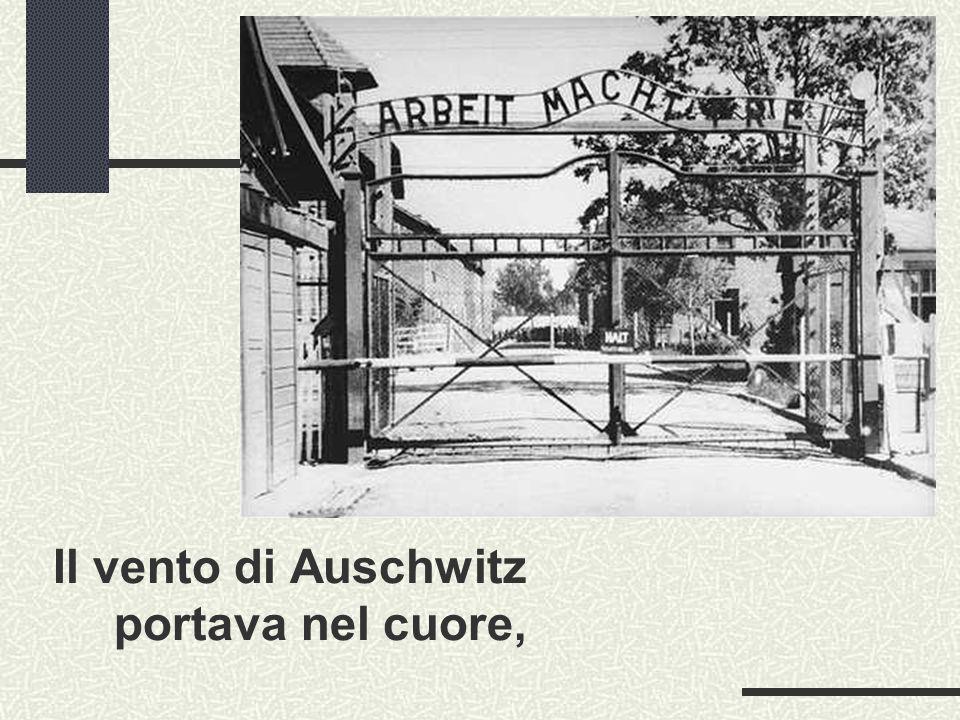Il vento di Auschwitz portava nel cuore,