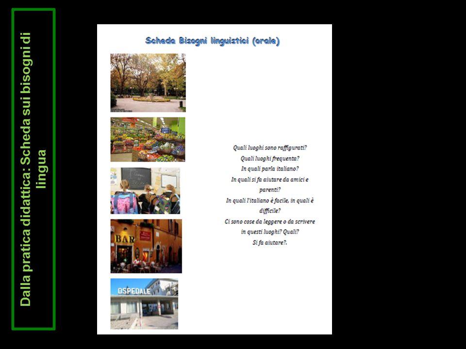 Dalla pratica didattica: Scheda sui bisogni di lingua