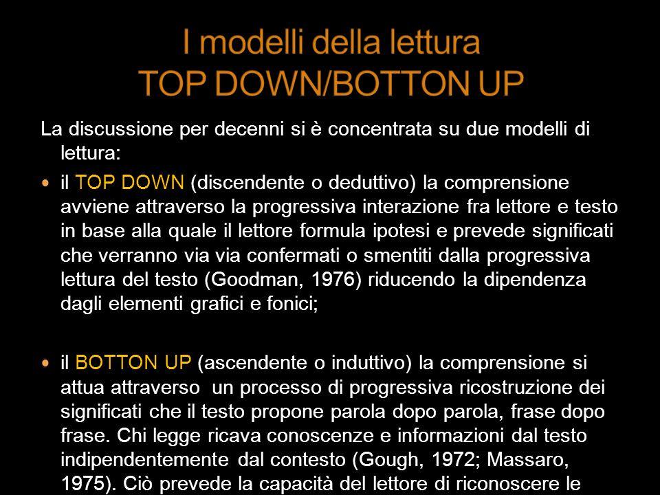 I modelli della lettura TOP DOWN/BOTTON UP
