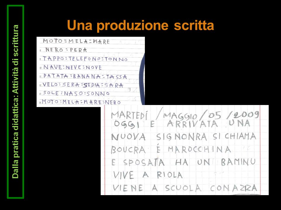 Una produzione scritta