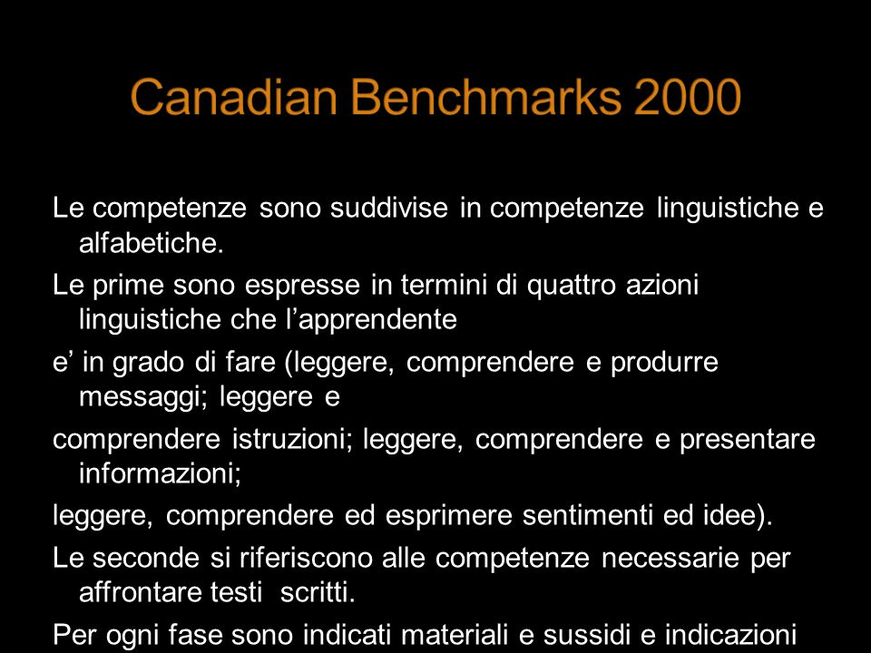 Canadian Benchmarks 2000