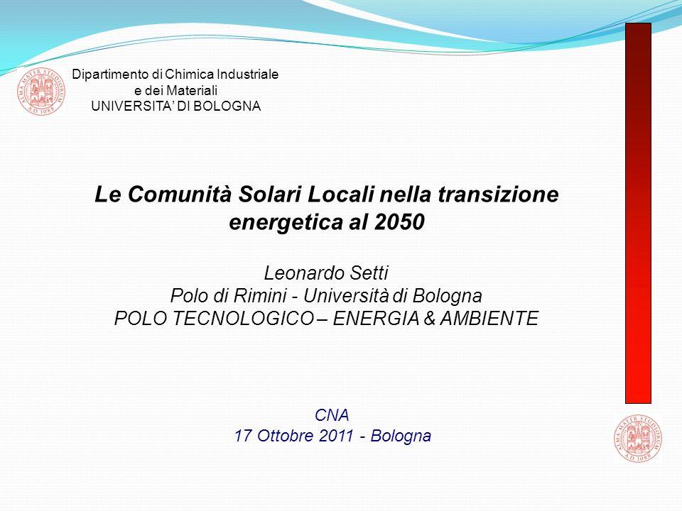 Le Comunità Solari Locali nella transizione energetica al 2050