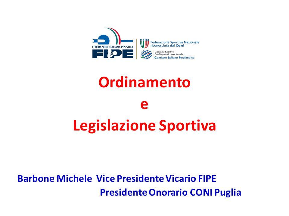 Legislazione Sportiva