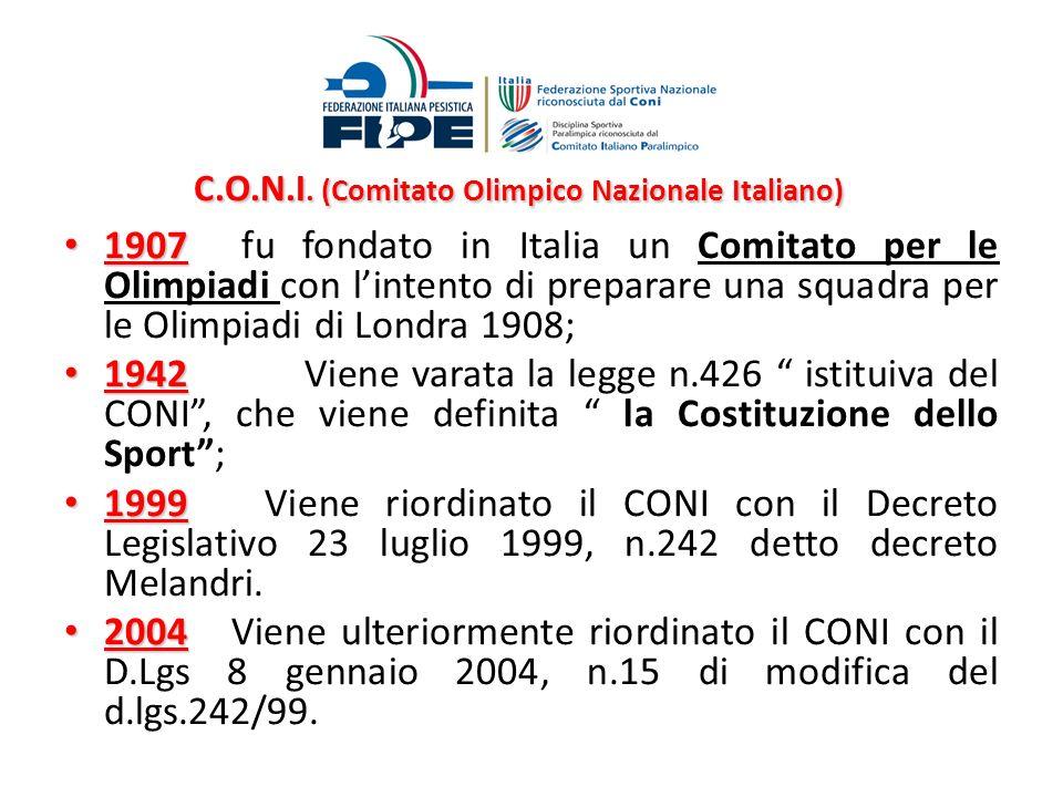C.O.N.I. (Comitato Olimpico Nazionale Italiano)