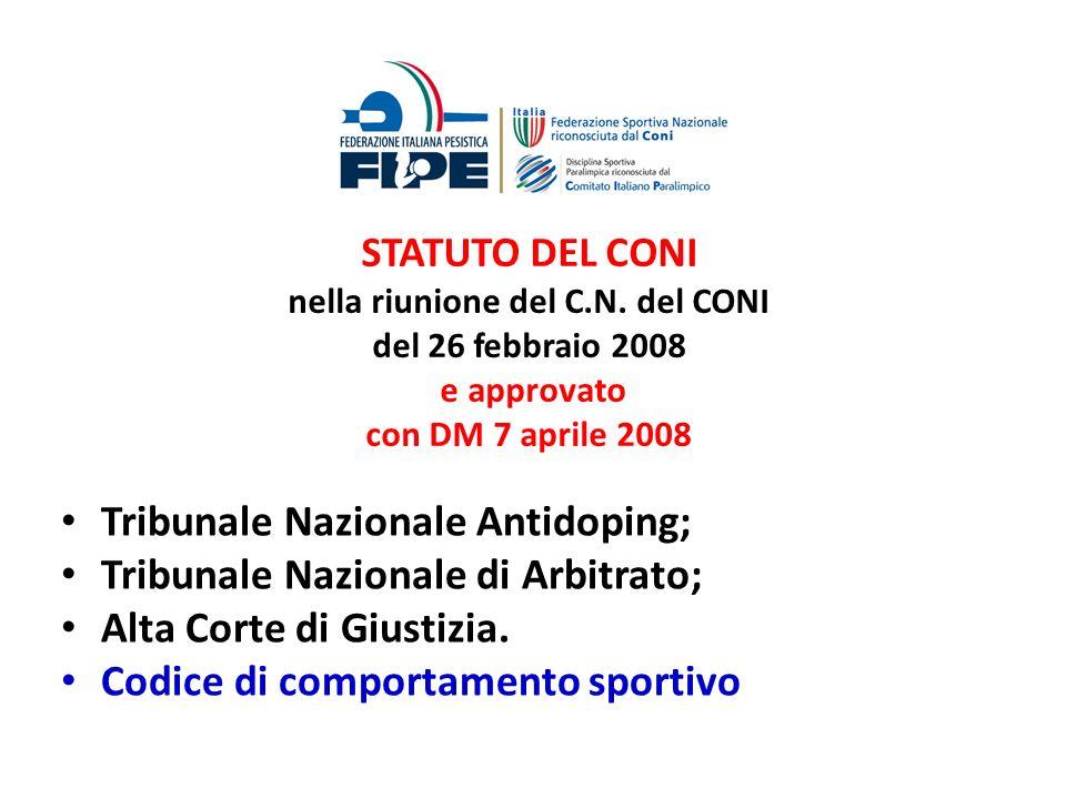 Tribunale Nazionale Antidoping; Tribunale Nazionale di Arbitrato;
