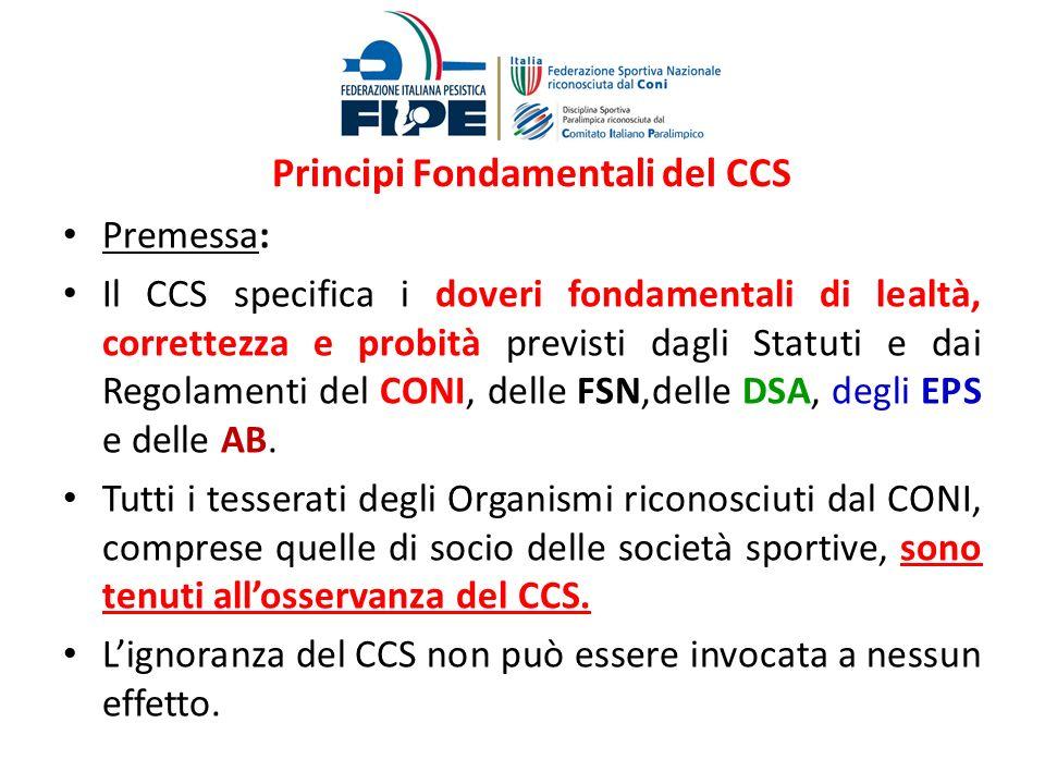 Principi Fondamentali del CCS