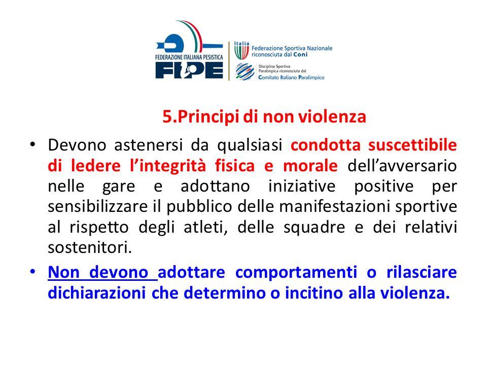 5.Principi di non violenza