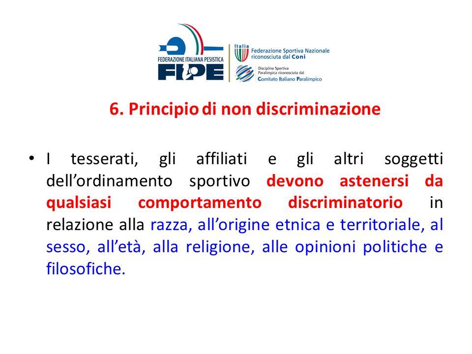 6. Principio di non discriminazione