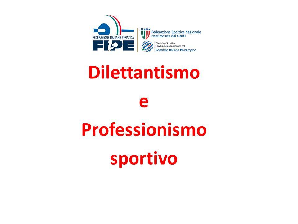 Dilettantismo e Professionismo sportivo