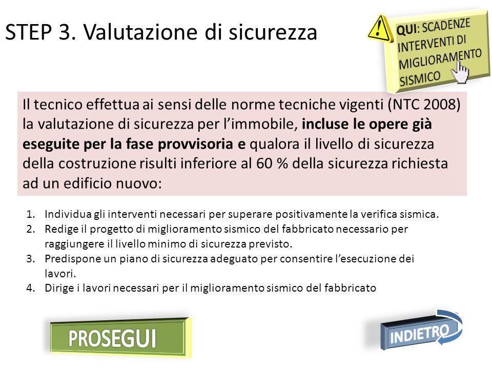 STEP 3. Valutazione di sicurezza