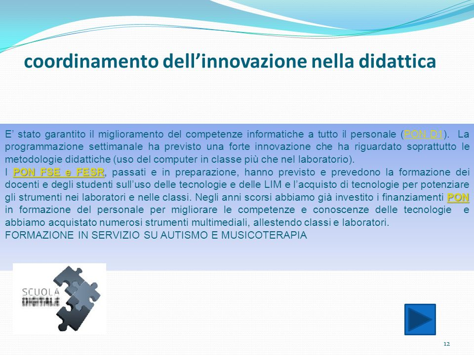 coordinamento dell'innovazione nella didattica