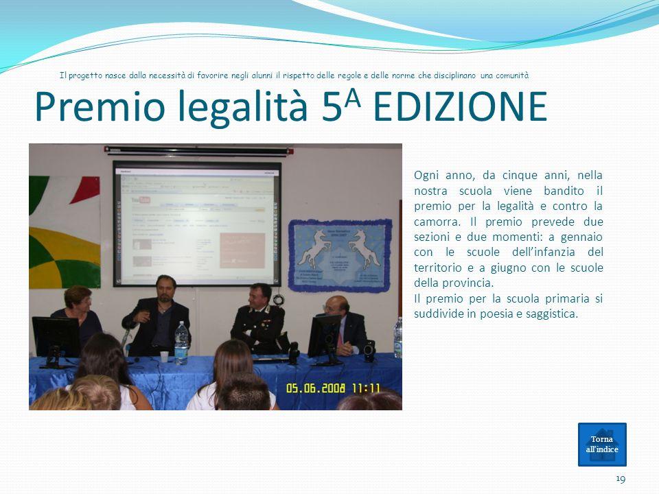 Premio legalità 5A EDIZIONE