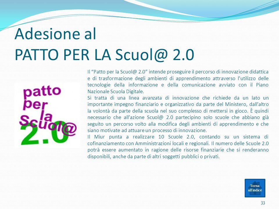 Adesione al PATTO PER LA Scuol@ 2.0