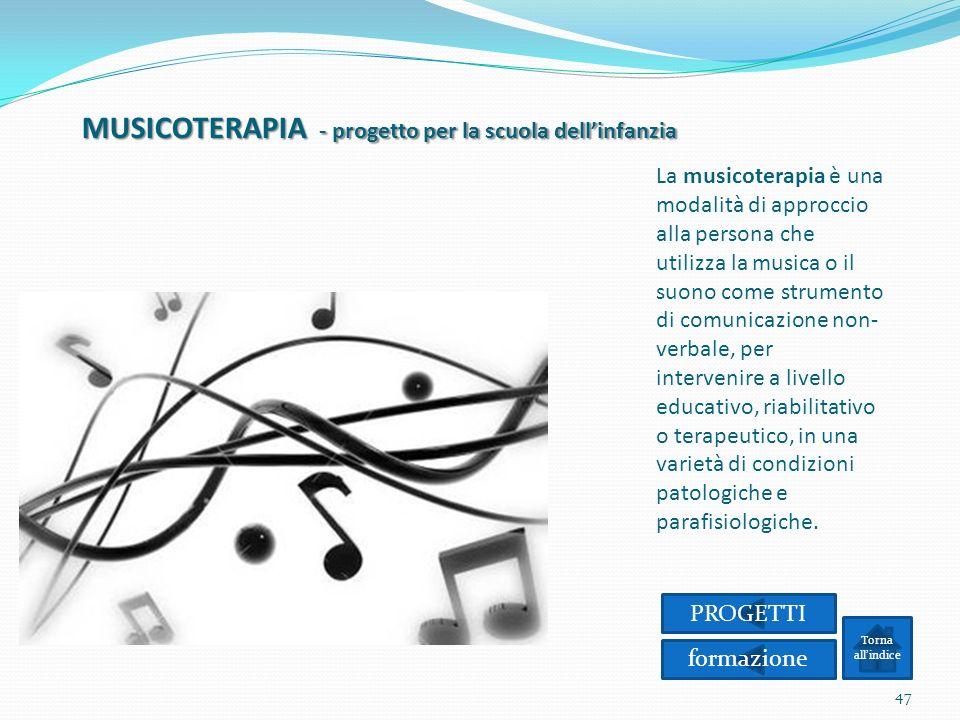 MUSICOTERAPIA - progetto per la scuola dell'infanzia