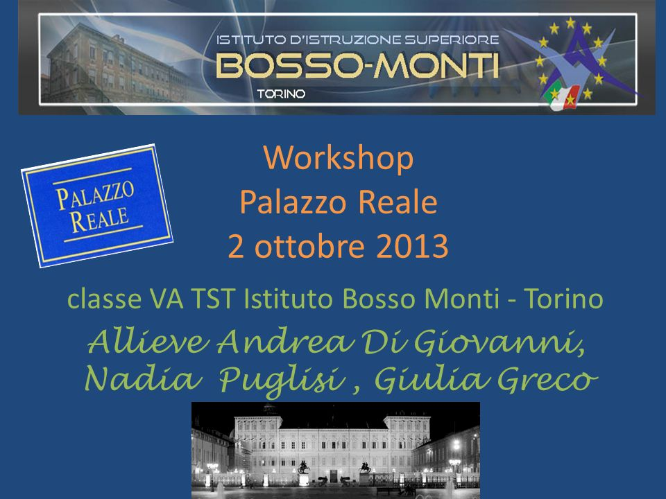 Workshop Palazzo Reale 2 ottobre 2013
