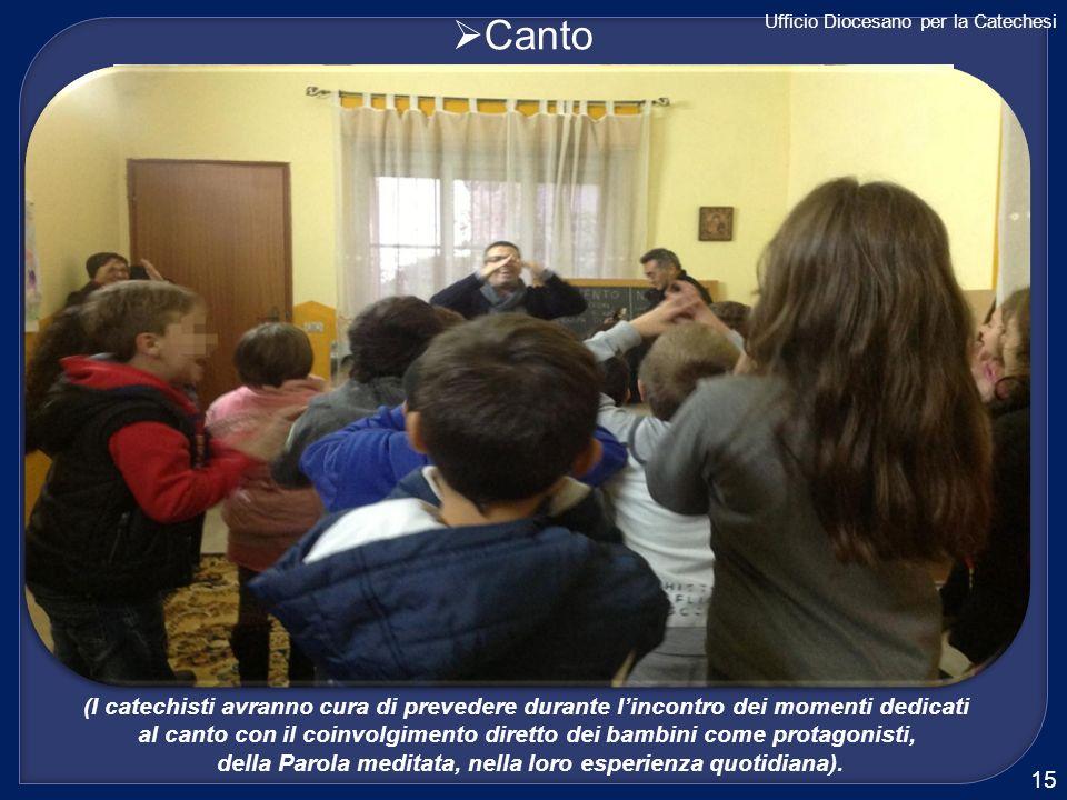 CantoUfficio Diocesano per la Catechesi. (I catechisti avranno cura di prevedere durante l'incontro dei momenti dedicati.