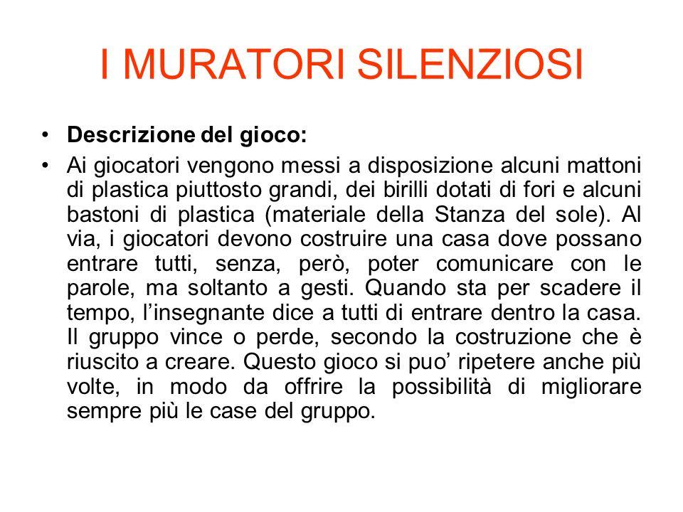 I MURATORI SILENZIOSI Descrizione del gioco: