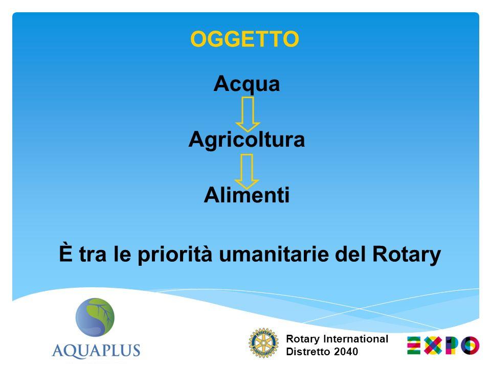È tra le priorità umanitarie del Rotary