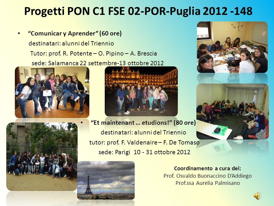 Progetti PON C1 FSE 02-POR-Puglia 2012 -148