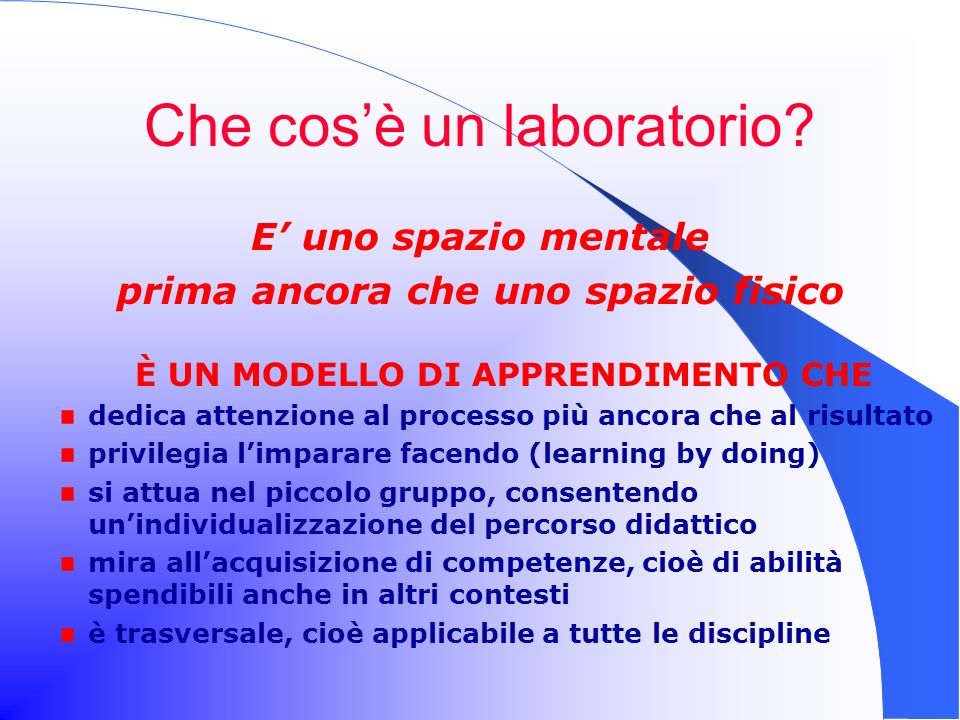 Che cos'è un laboratorio